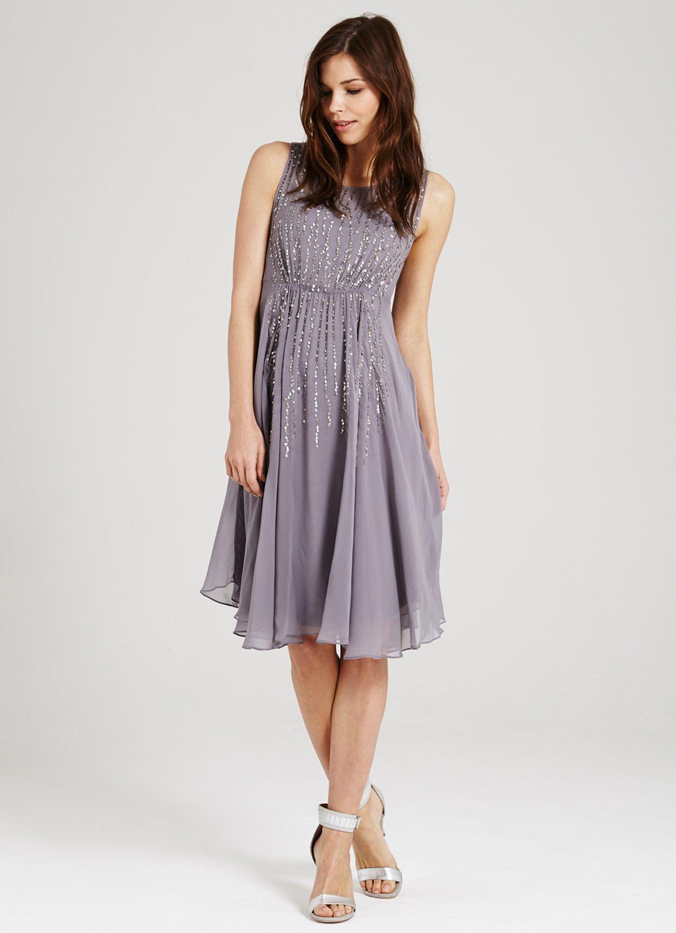 Platinum Droplet Dress | Dresses & Jumpsuits | MintVelvet ...