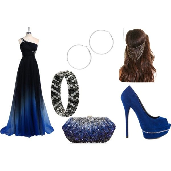blue and black prom by teete1207 on Polyvore featuring ALDO, Arizona and Forever 21