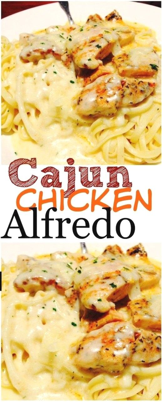 Chicken Recipes | Cajun Chicken Alfredo #cajundishes