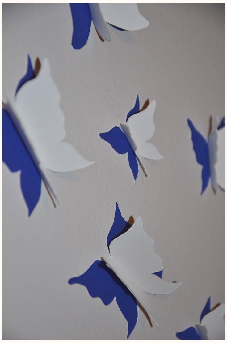 Deko-DIY: 3D-Schmetterlinge für die Wand