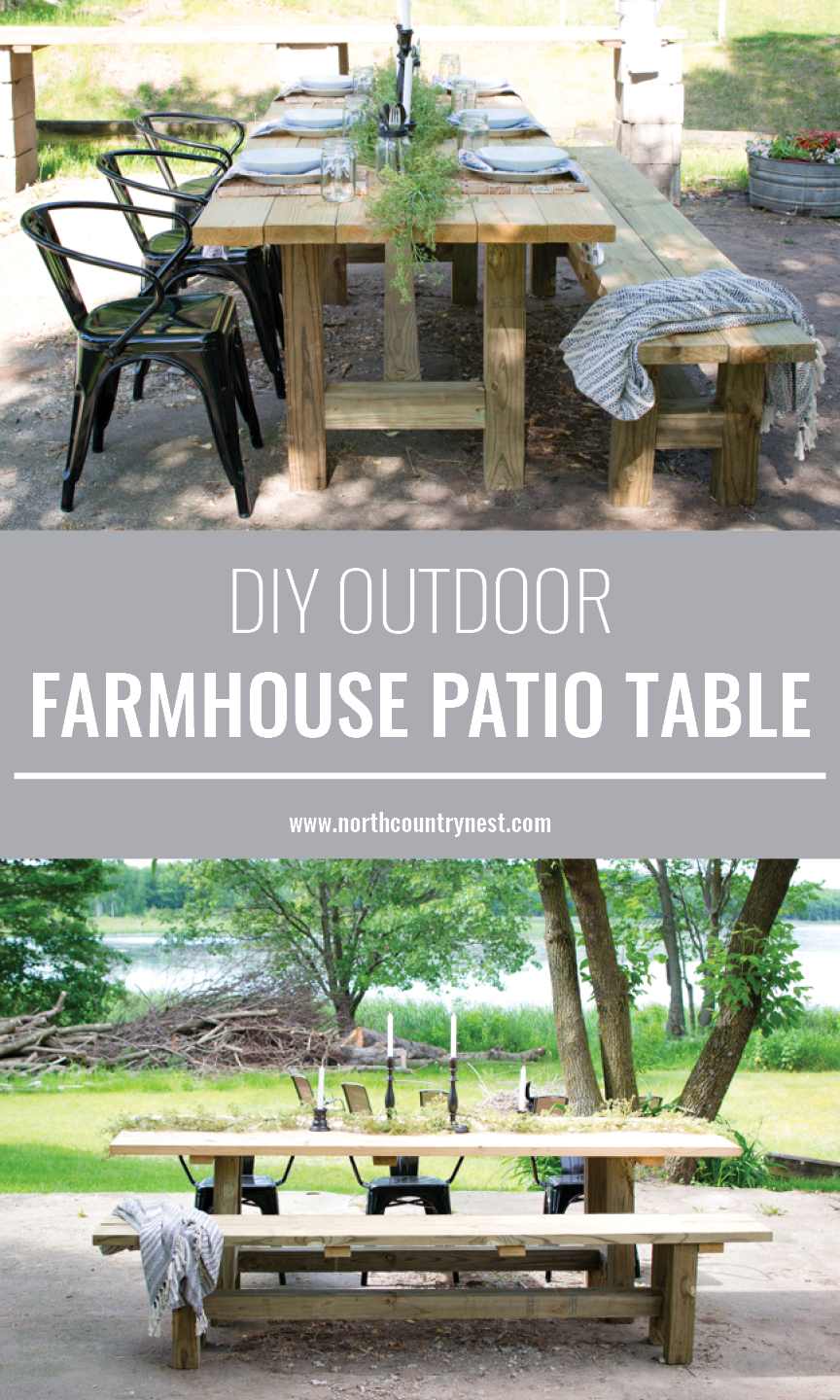 diy outdoor farmhouse table. Check Out This Quick And Easy Tutorial On How To Make An Outdoor Farmhouse Patio Table Diy U
