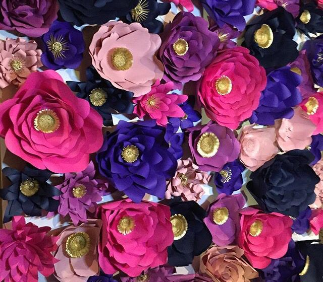 Paper Mch Flowers Sangeet Decor Pinterest Paper Flowers