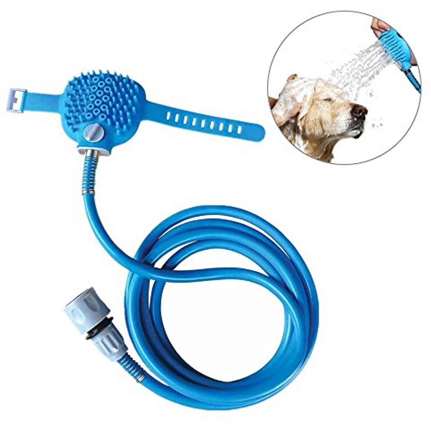 2-IN-1 Unit Pet Shower Sprayer, Sprayer and Scrubber Pet Bathing ...