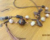 Asymetrical bohemian necklace  $35 www.etsy.com/shop/casanoni