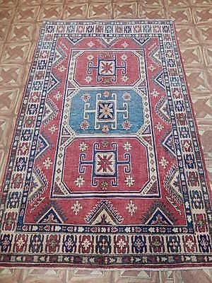 4x6 Kazak Carpet Karachi Hand Knotted Area Rug This Original Home Decor Floor Covering Was Made By The Hands Of Artist 4x6 Area Rugs Area Rugs Rugs On Carpet