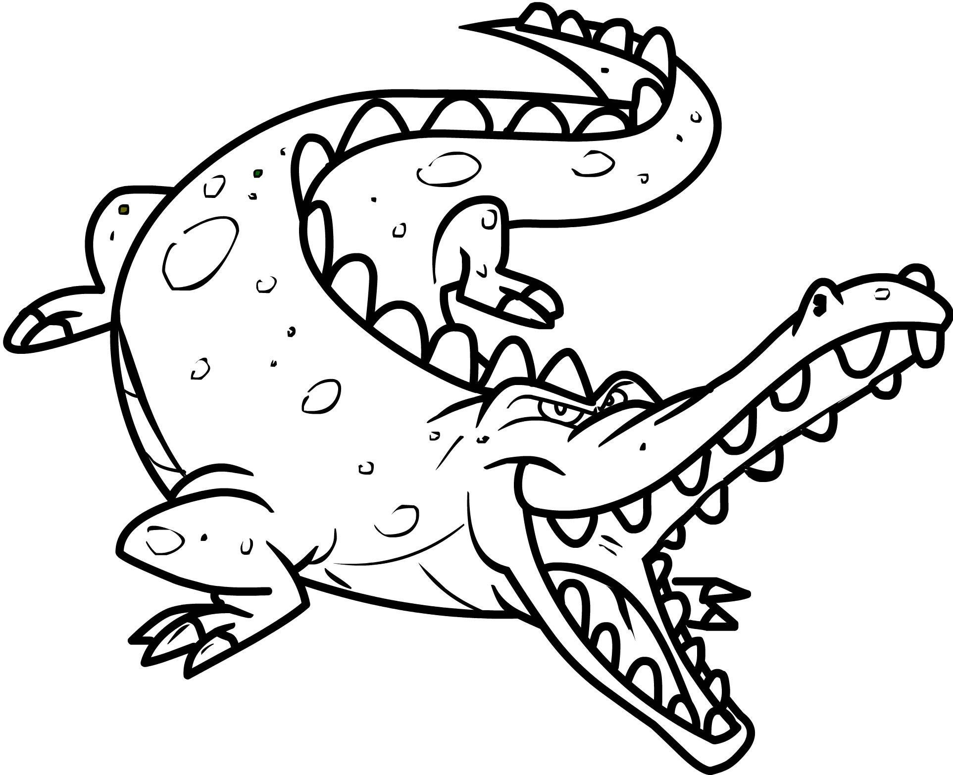 coloring pages of crocodiles | Crocodile Coloring Pages Printable ...