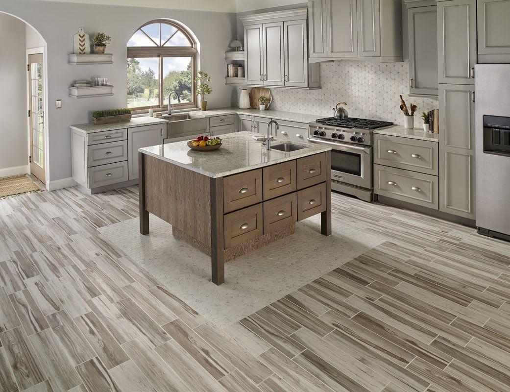 "Carolina 6"" x 24"" Ceramic Field Tile Wood look tile"