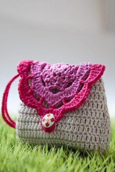 Dulce crochet cartera monedero con correa por SweetHandmadeCrochet ...