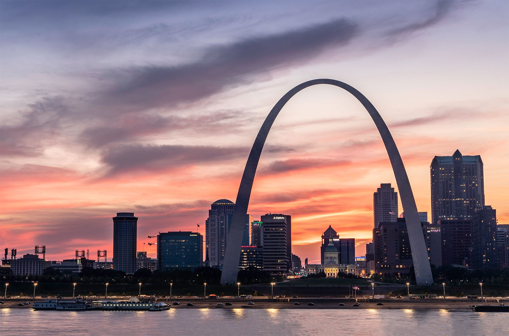 St Louis Skyline Photo Saint Louis Print St Louis Sunset