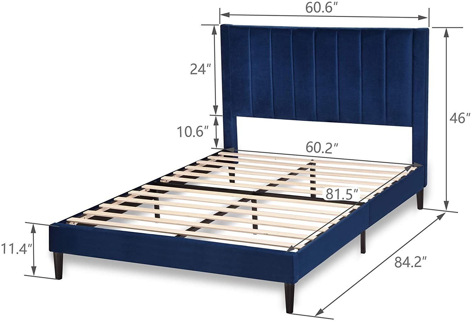 Amazonsmile Amolife Queen Size Bed Tufted Platform Bed Frame Upholstered Bed Frame Mattress Foundati Platform Bed Frame Bed Frame Mattress Mattress Foundation