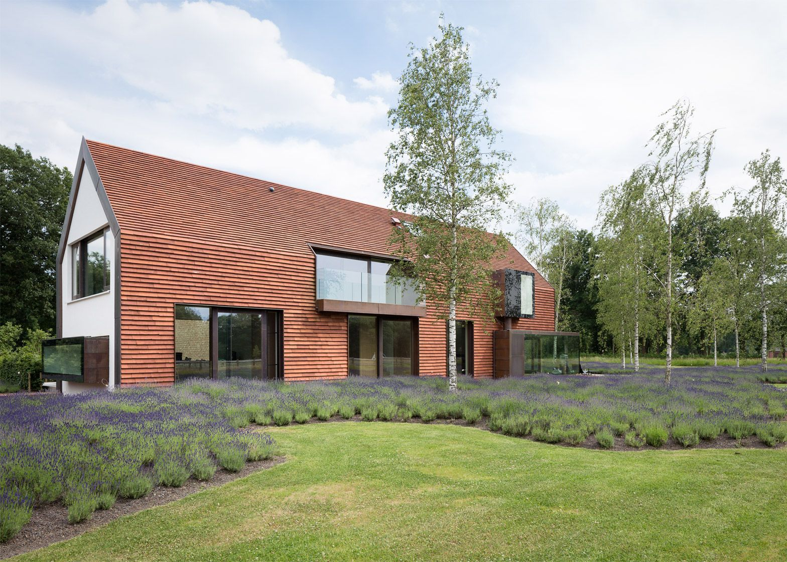 Terracotta Tiles Cover This House On Belgian Farmland Which Was Designed To Match The Traditional
