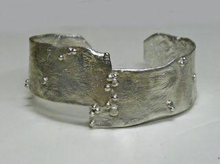 Christine Peters Hamilton - reticulated silver cuff