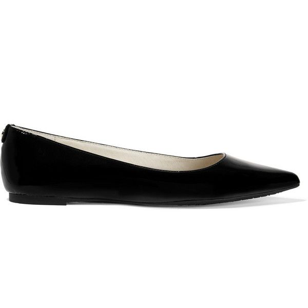 d7e2ef8a340 MICHAEL Michael Kors Arianna patent-leather point-toe flats ( 165) ❤ liked