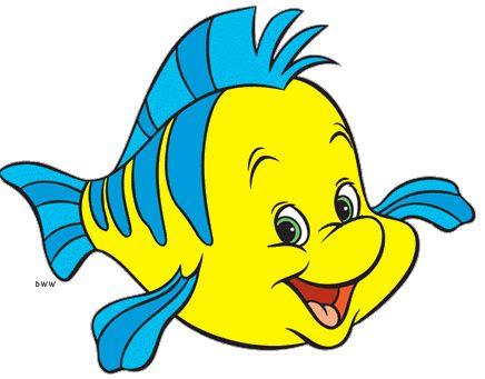 Flounder Little Mermaid Characters Mermaid Clipart Disney Little Mermaids