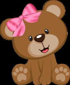 ursinha marrom rosa clip art artesanato e fa a voc mesmo rh pinterest co uk baby bear clip art images baby bear clipart images