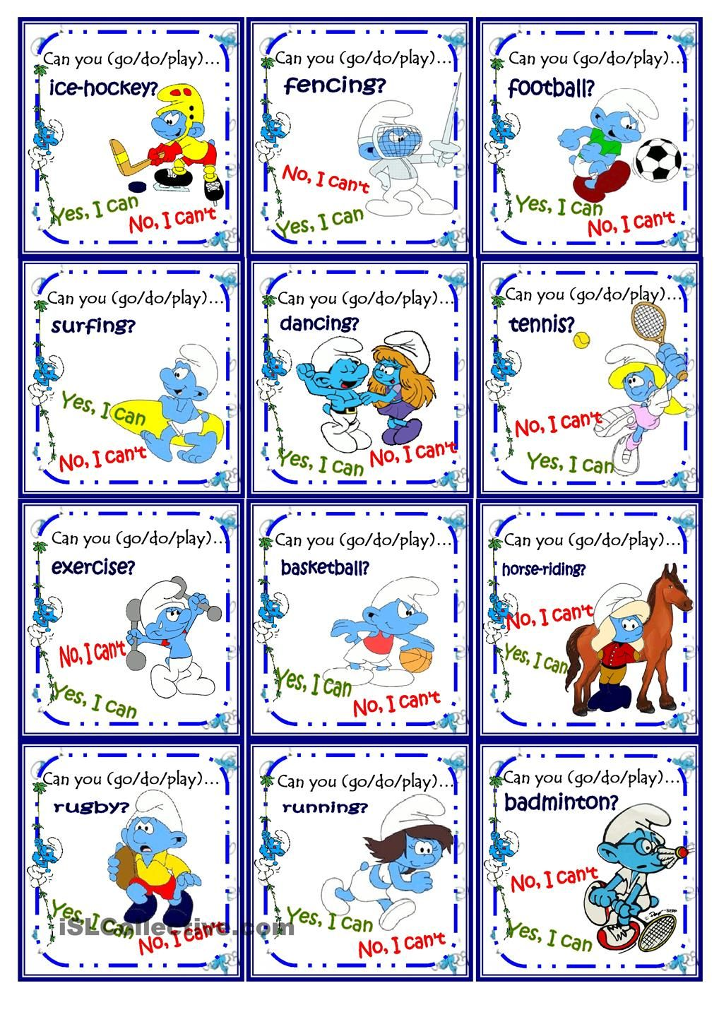 Sports play go do go fish game with the smurfs deporte for How to play go fish