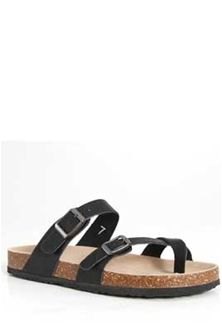 5ec366ea168d4 Outwoods Bork Double Buckle Sandals for Women in Black 21321-101 in ...