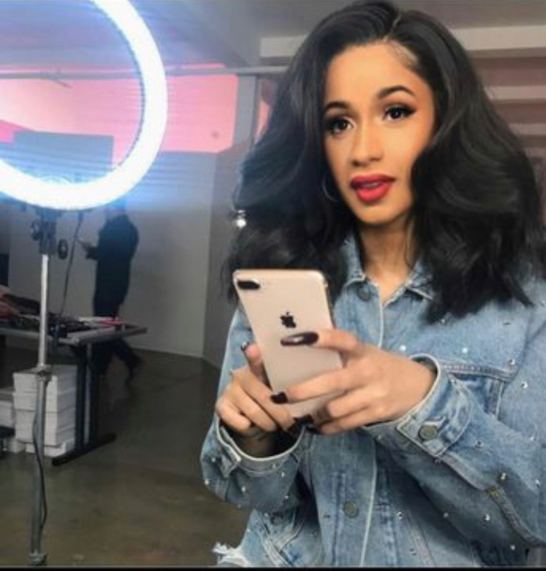 Cardi B Black Sew In Weave With Closure Shoulder Length With Waves Hair Styles Short Weave Hairstyles Wig Hairstyles