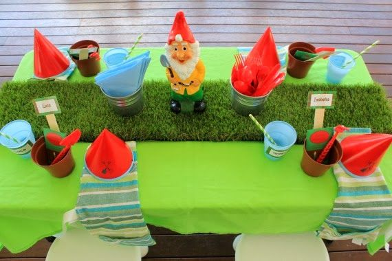 Gardening Themed Party Table for kids - heaps of great gardening ...