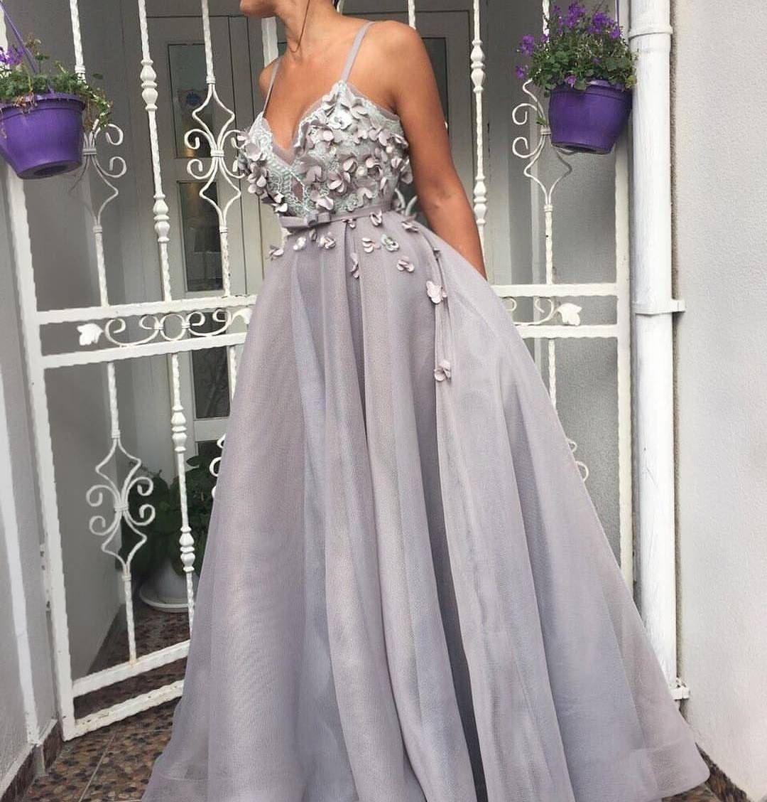 Saudi arabia evening dress lace appliques hand prom dress
