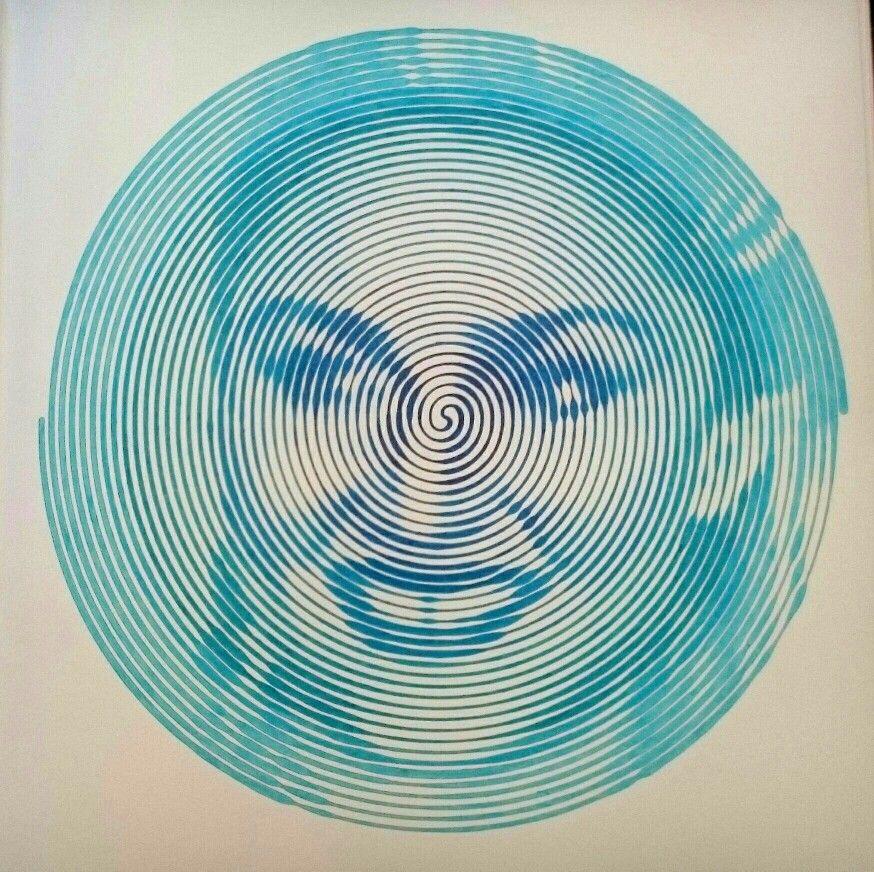 Spiroglyphics Madonna In Five Shades Of Blue Shades Of Blue Art Portraiture