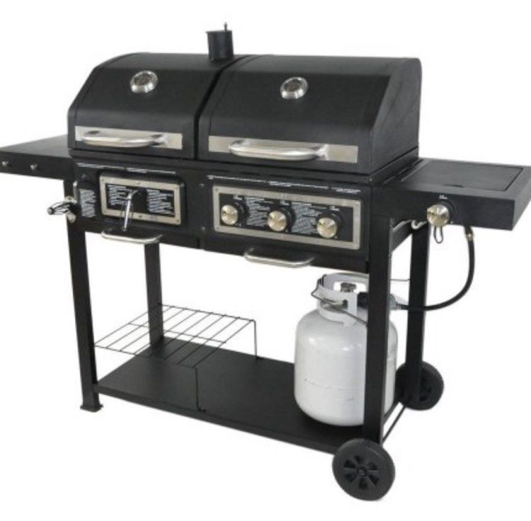 Extra Large Outdoor Grill Dual Fuel Gas Pro Bbq Charcoal