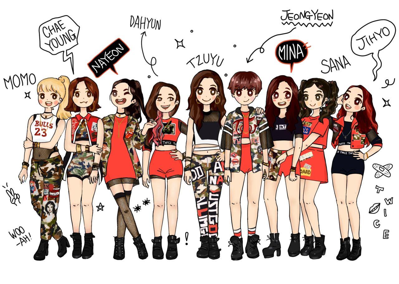 Cute!! Twice debut, Twice, Fan art wallpaper