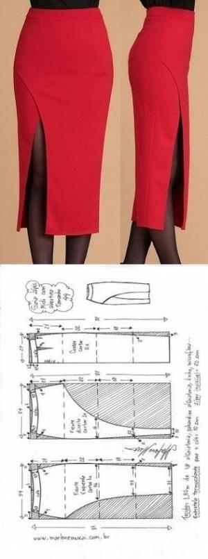 Midi pen skirt... | Выкройки | Pinterest | Nähen