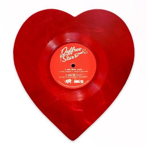 Mr Diva 7 Transparent Red Swirl Heart Shaped Vinyl Red Aesthetic Vintage Valentine Cards Swirled Heart