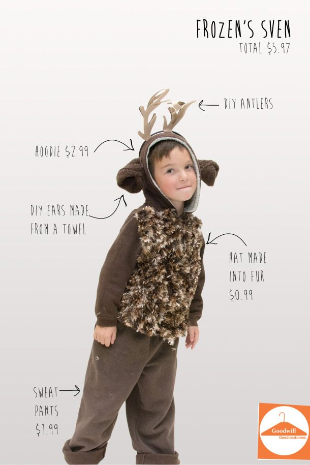 homemade sven frozen costumes   DIY Sven from Frozen from Goodwill ...