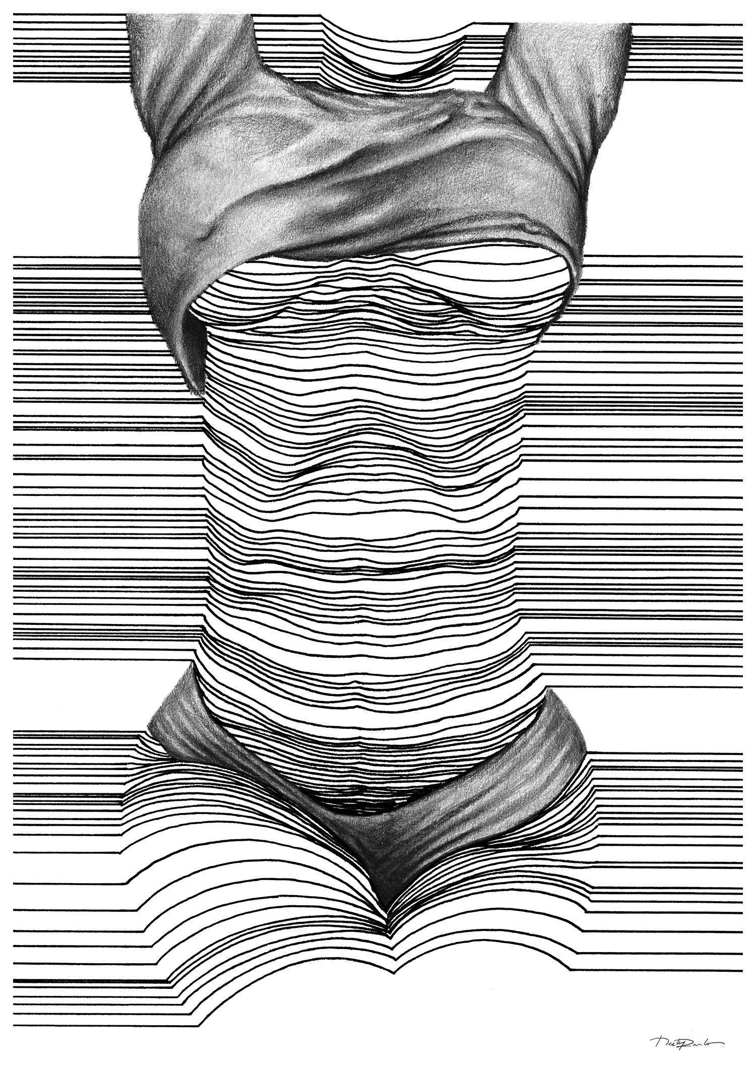 Drawing Lines In D : Sensual d line art by nester formentera drawings