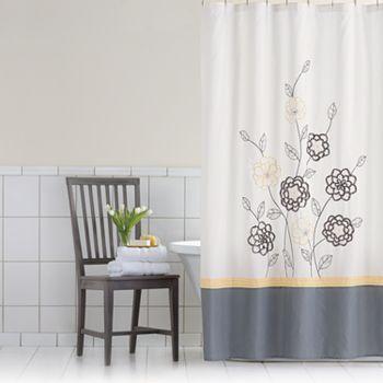 Home Classics Sophia Fabric Shower Curtain Fabric Shower