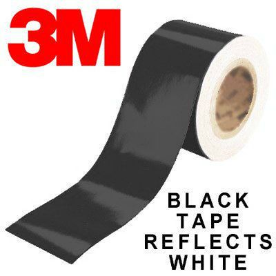 3m 580 Reflective Vinyl Tape Black Color 25mm 2 5cm X 2 Meters In Roll Tape Vinyl Black Color