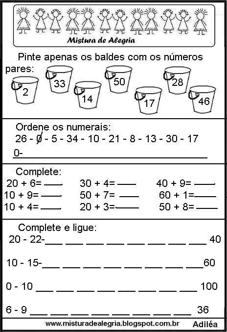 20 Atividades De Matematica Ensino Fundamental Para Imprimir Com