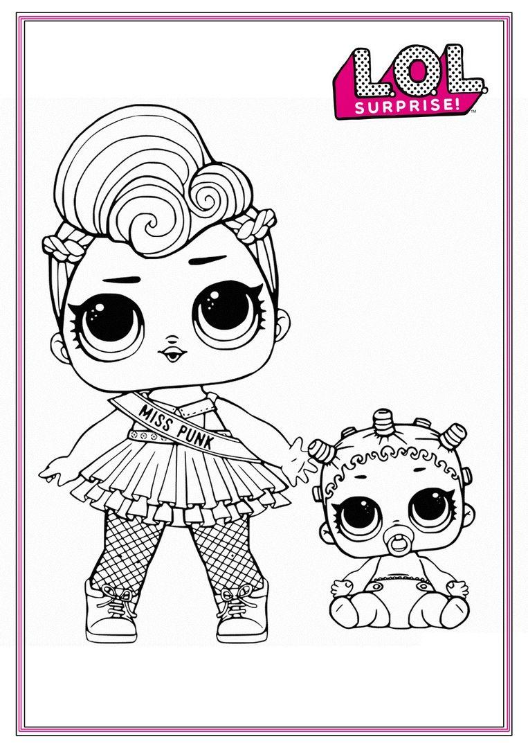 Куклы ЛОЛ Сюрприз   Рисунки для раскрашивания, Раскраски и ...