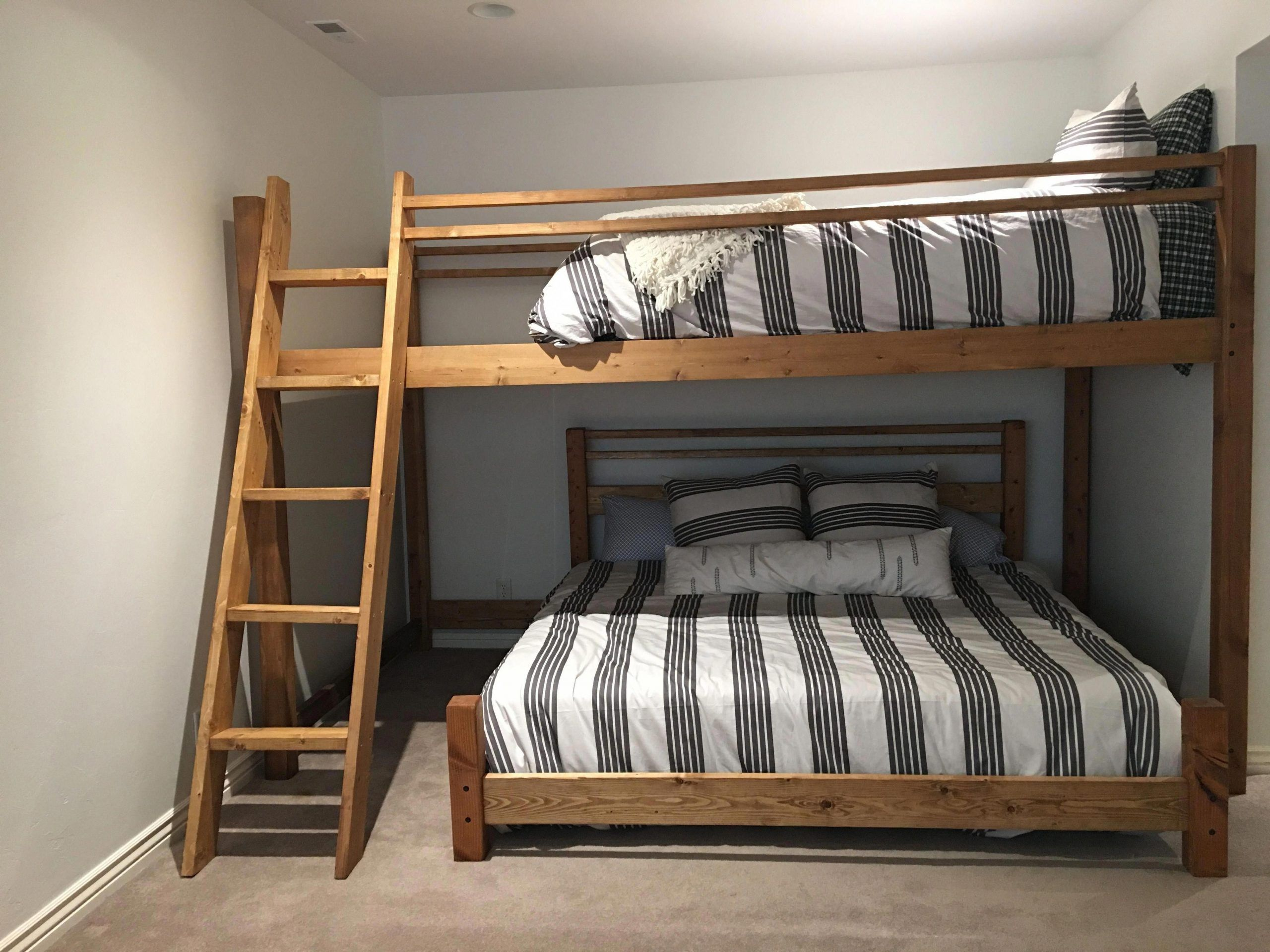 I'm a sucker for this striking full size bunk beds