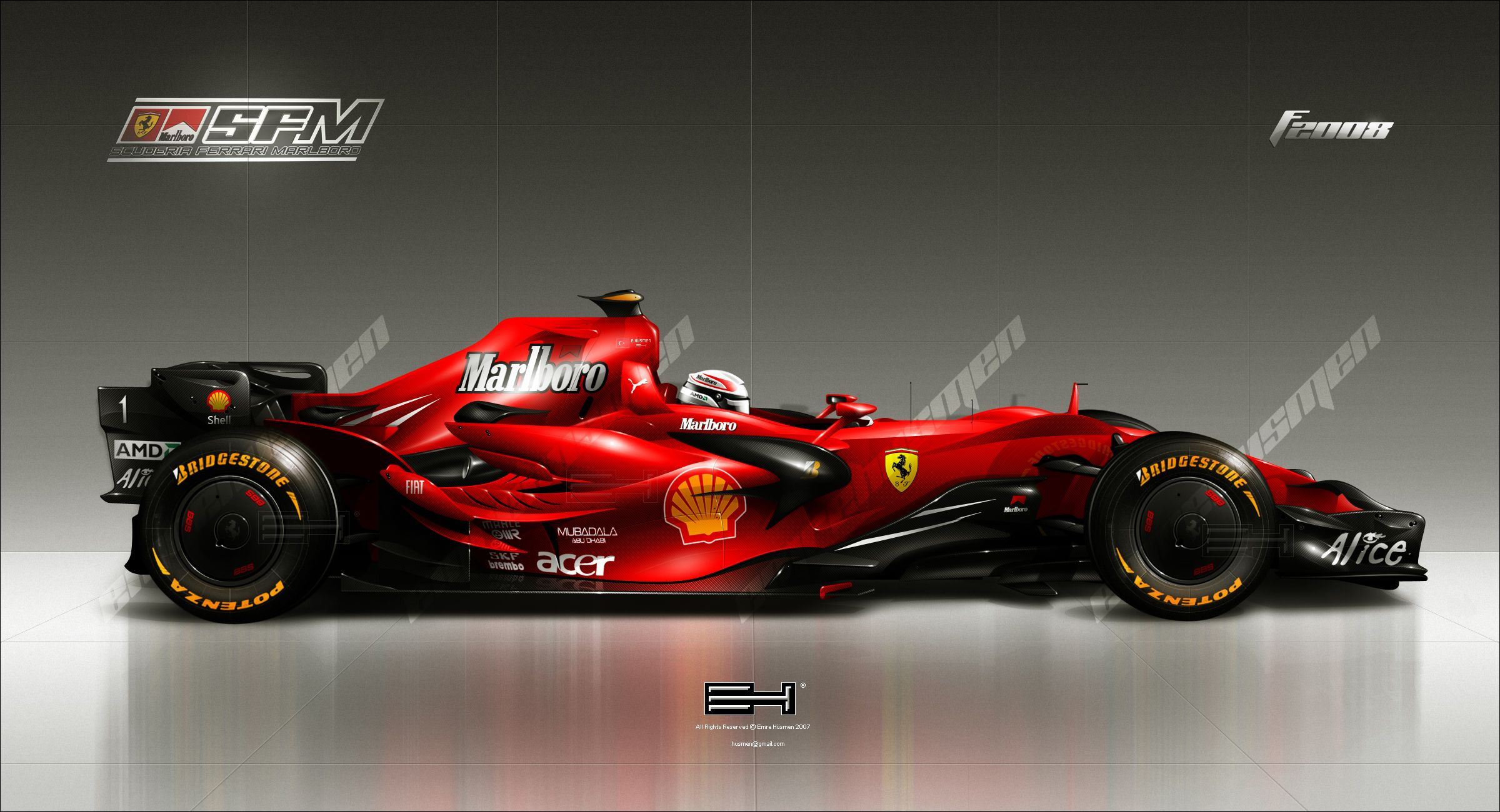 2015 Ferrari F1 Car Super Cars Formel 1 Grand Prix Rennen