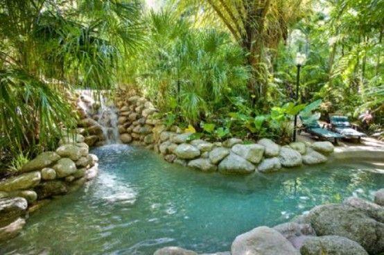 Freeform Rock Tropical Pool