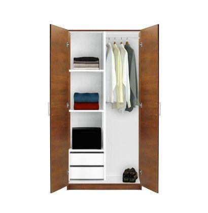 Alta Wardrobe Closet Half And Half Portable Wardrobe Closet