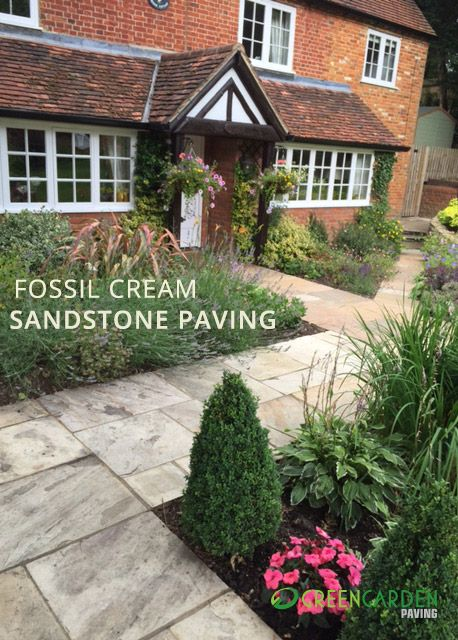 Fossil Cream Sandstone Paving At Green Garden Online
