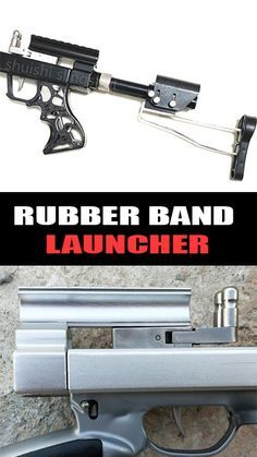Photo of A/B bore Mechanical Slingshot Rubber Band Riffle with Laser Sight