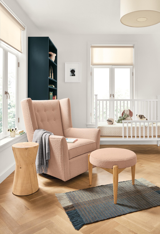 Wren Swivel Glider Chair & Ottoman Modern Accent