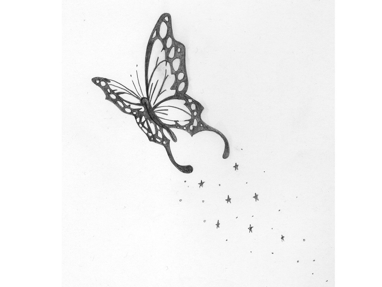 Butterfly star tattoo designs - Butterfly S And Stars Tattoos Drawings
