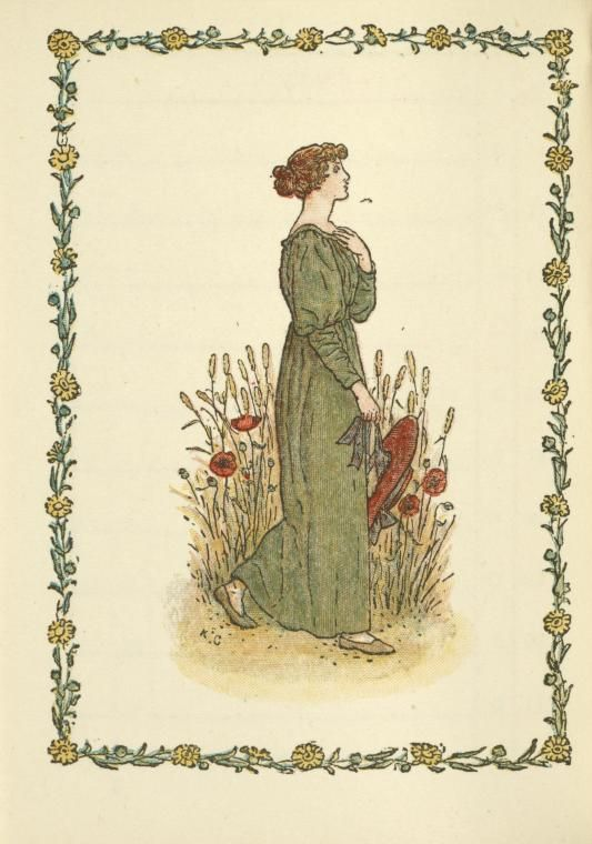 Almanack and Diary for 1897 .... Woman in Garden