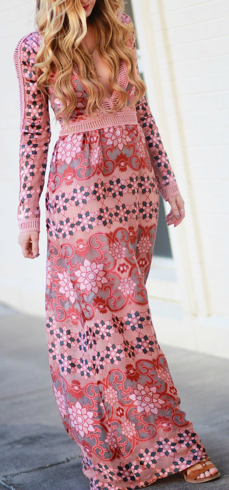 Boho Fall Maxi Dress