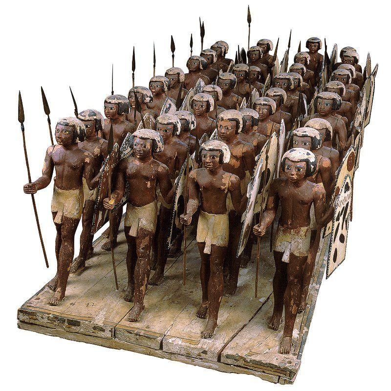 Wood Model Of Soldiers Of Mesehti