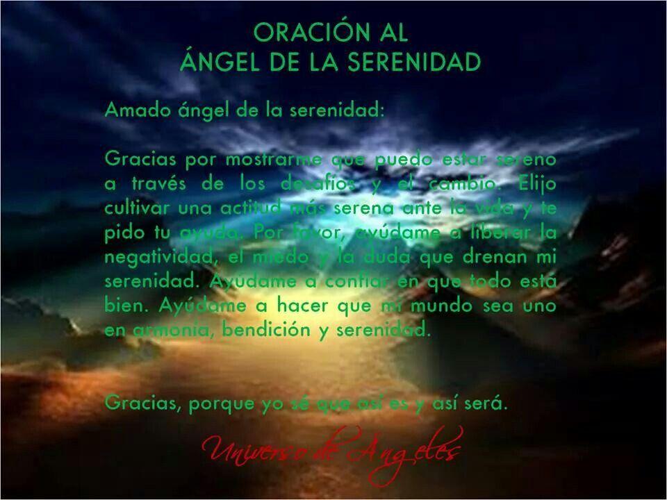 Oración al ángel de la serenidad.   #UniversoDeAngeles