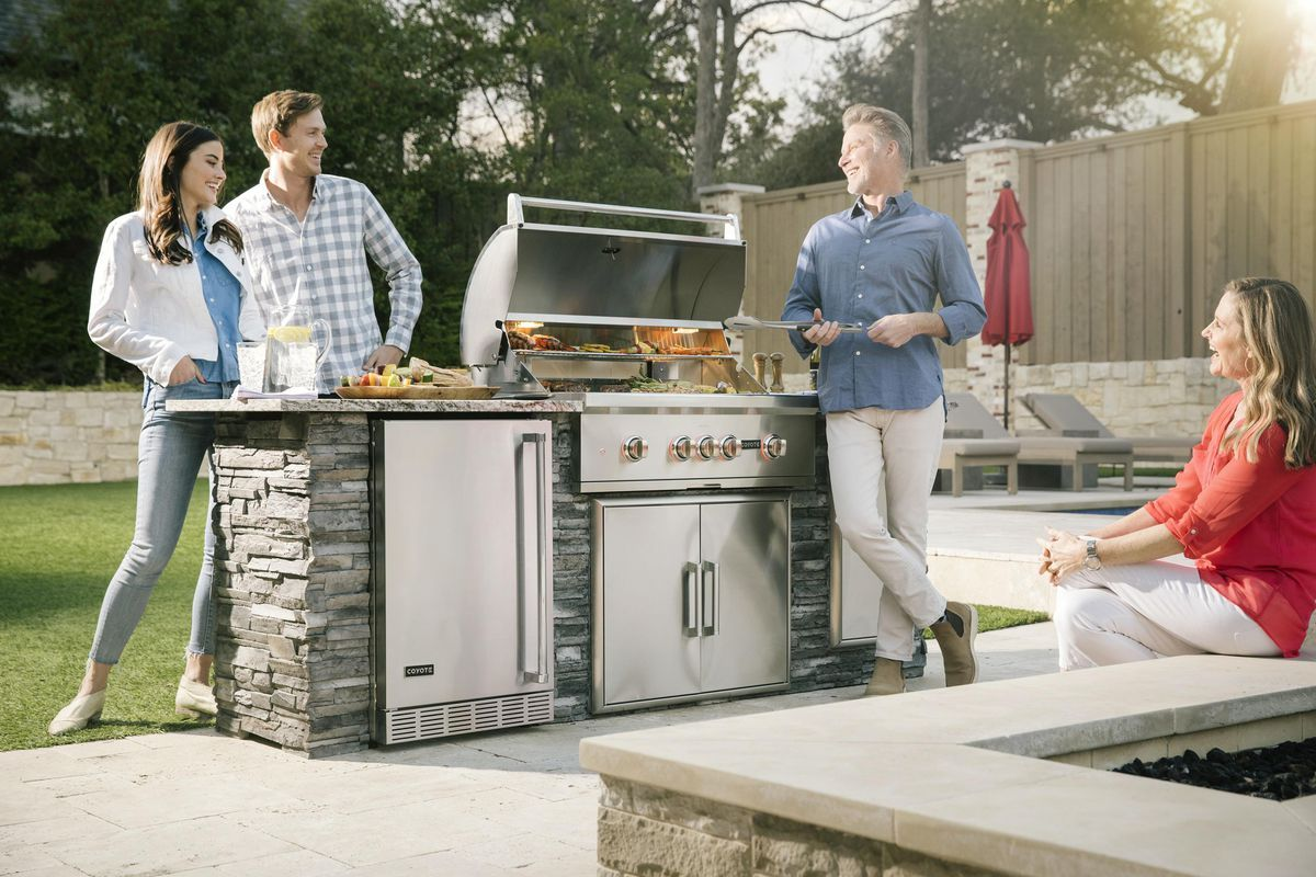 Sap Brandvoice New Pellet Grills From Coyote Outdoor Living Fire Up Innovative Customer Experience In 2020 Outdoor Kitchen Outdoor Kitchen Island Grill Design