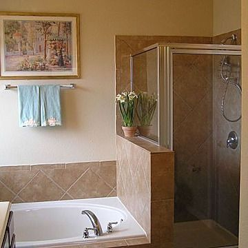 image result for bathroom layout of 8x10 with separate tub