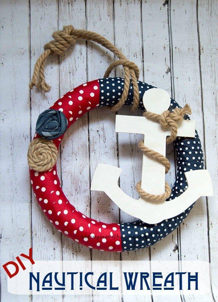 Easy To Make Diy Nautical Wreath Nautical Wreath Wreath Crafts